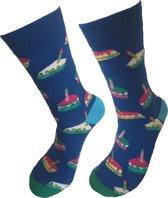 Verjaardag cadeautje voor hem en haar - Taart Sokken - Gebak Sokken - Leuke sokken - Vrolijke sokken - Luckyday Socks - Sokken met tekst - Aparte Sokken - Socks waar je Happy van wordt - Maat 37-44
