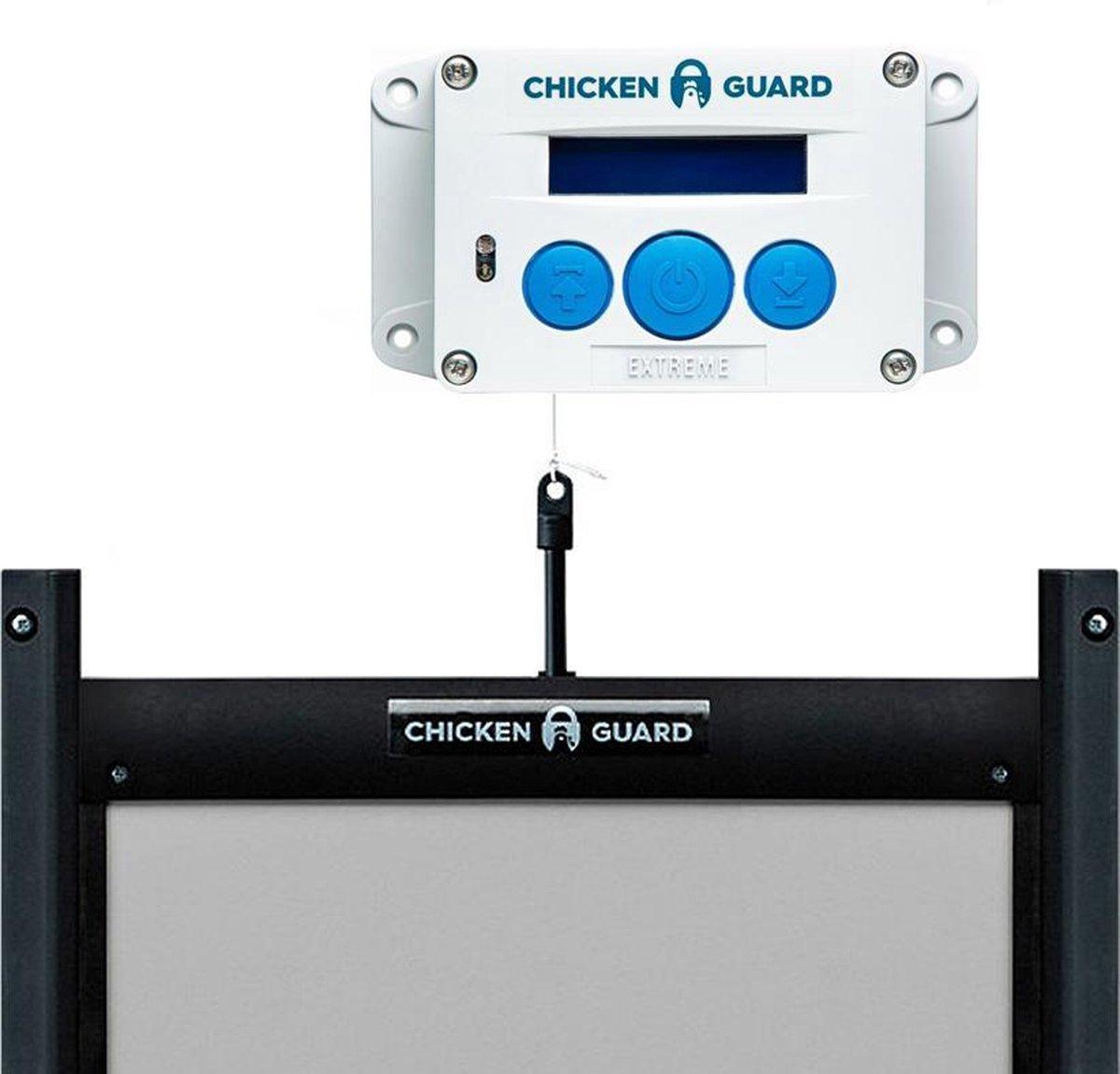 Chickenguard Extreme - op batterijen en zelfsluitende deur