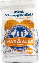 Max & Alex - Mini Stroopwafels - Zakje van 200 gram - karamel - 20 koekjes
