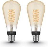 Philips Hue Uitbreidingspakket - White - Filament Edison Groot (ST72) - E27 - 2 Lampen