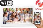 Denver PFF-1513 White - Digitale Fotolijst - fotokader - 15.6 inch - met Frameo software en Wi-Fi - IPS touchscreen - 8GB Wit