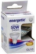 ENERGETIC LED SPOT GU10 4,6W (VERVANGT 50W) 2700K PER 6 STUKS