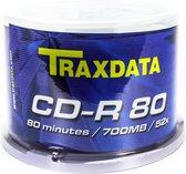 Traxdata CD-R 700MB/80 minuten 52x 50pk