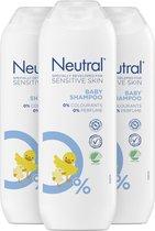 Neutral 0% Baby Shampoo Parfumvrij - 3 x 250 ml - Voordeelverpakking