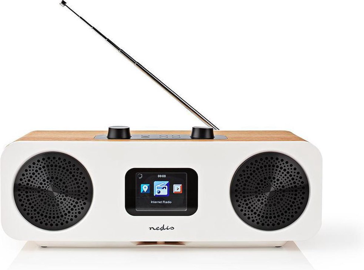 Internetradio   DAB+ / FM / Bluetooth®   Afstandsbediening   Wit / Hout