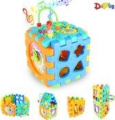 DePlay 6-in-1 Activiteiten Kubus - Activity Center Baby - Activity Center - Baby Speelgoed - Kinder Speelgoed - Educatief Speelgoed - Blokkendoos - Piano - Rammelaar - Disney -  Mickey Mouse - Spiegel  - 6 Speelvlakken Loskoppelen – Leren Klokkijken