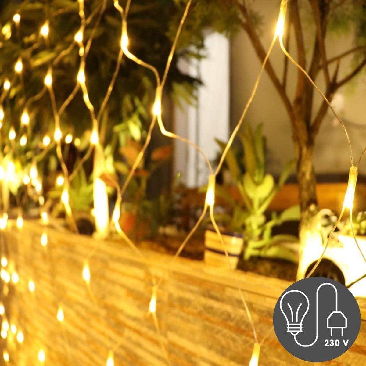 J-Pro Tuinverlichting - 3m x 2m Lichtnet - LED Lichtgordijn - Met Stekker