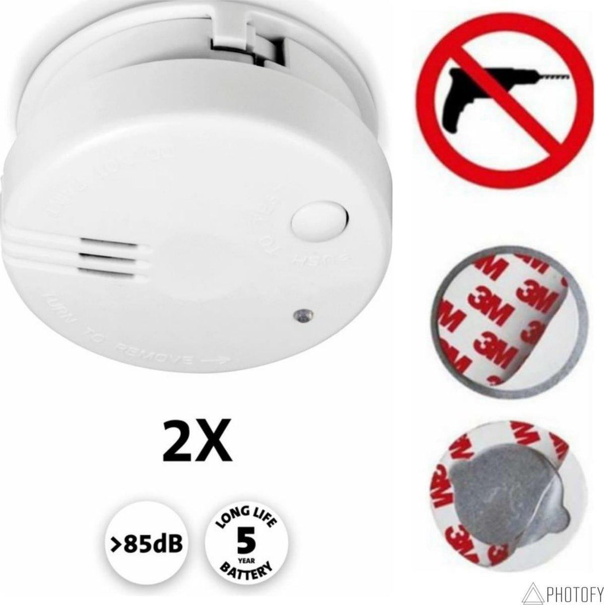 Alecto SA-102 rookmelder + 2 x magneet set