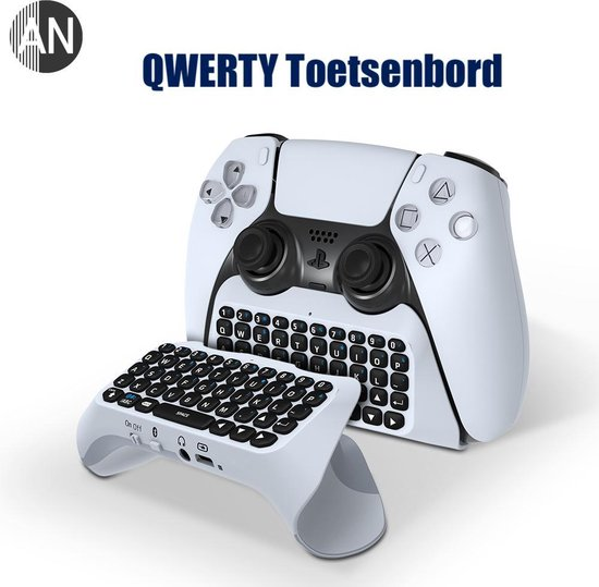 AN PS5 Controller Keyboard - Bluetooth Mini Toetsenbord voor Playstation 5 Controller