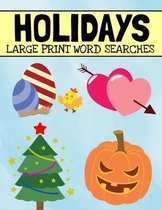 Holidays Large Print Word Searches