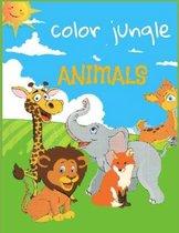 color Jungle Animals: