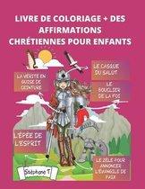 Livre de Coloriage + Affirmations Chretiennes Pour Enfants