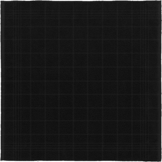 DDDDD Keukendoek Block zwart pak a 6 stuks