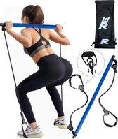 Rebenga Resistance Bar 2.0+ Trainingsschema - Multifunctioneel - Full Body Workout - Resistance band set - Weerstandsbanden - Fitness elastiek Booty Band - Pilates - Pilates Bar - Booty Bar - Pilates Stick - Thuis Sporten + GYM ZAK