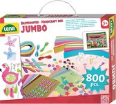 Lena Knutselset Jumbo Junior 35,5 Cm Karton Roze 800-delig