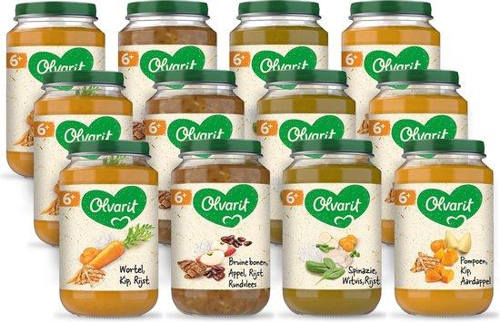 Olvarit Variatiemenu Maaltijd - babyhapje vanaf 6+ maanden - 4 smaken...