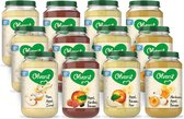 Olvarit Variatiemenu Fruit - fruithapje vanaf 8+ mnd - 4 smaken babyvoeding - 12 fruitpotjes - 200g