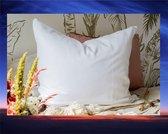 Bamboe Molton kussensloop - 60 x 70 cm, zware kwaliteit 250 gr. - wit