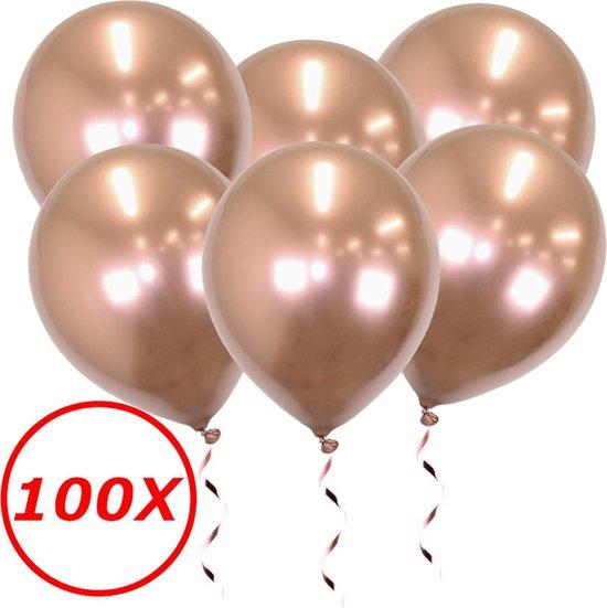 Rose Goud Ballonnen Verjaardag Versiering Rose Gouden Helium Ballonnen Bruiloft Rose Gouden Feest Versiering 100 stuks