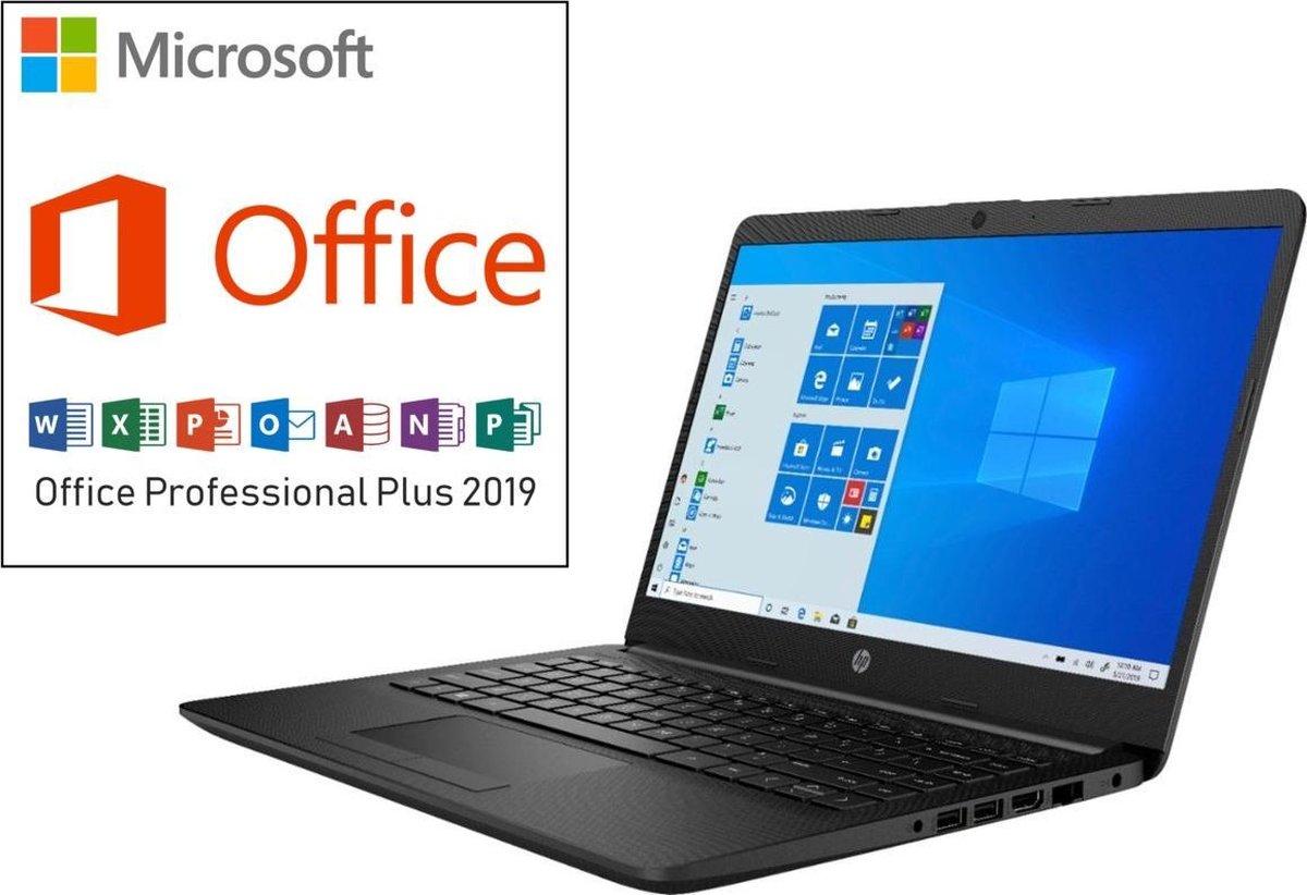 HP 14 inch Laptop - AMD Ryzen 3 - Zwart - 4GB RAM - 128GB SSD - Tijdelijk met GRATIS Office Professional (verloopt niet, geen abonnement) & BullGuard Antivirus t.w.v €60! (1 jaar, 3 apparaten)