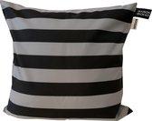 Kussenhoes Stripe Grijs   Outdoor   Waterbestendig   30x50 cm   Oxford Polyester   Grijs   Maison Boho