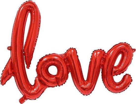 Love ballon Folie Ballonnen voor Valentijnsdag   Helium Ballon   Party Feest Ballonnen   Romantische Versiering   Ballonnen Huwelijk   Ballonnen Fotoshoot  - 108x65cm