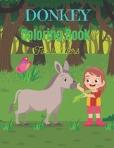 DONKEY Coloring Book For Toddlers