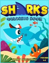 Sharks Coloring book for kids 4-8
