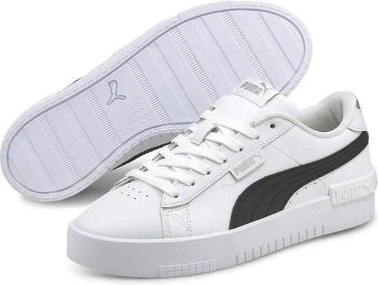 PUMA Jada Dames Sneakers – Puma White-Puma Black-Puma Silver – Maat 38