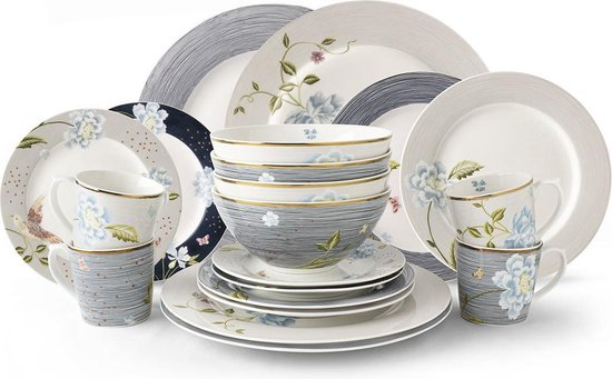 Laura Ashley Heritage Collectables Serviesset 20 delig Assorti (4 persoons)