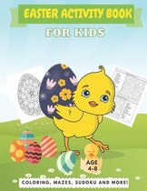 Easter Activity Book For Kids Age 4-8
