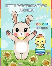 Happy Colouring Book for Kids Colour & Learn