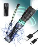 K-NATICS Militaire LED Zaklamp - USB Oplaadbaar - 3000 lumen - 5000mAh Batterij  - Zoomfunctie - Stof- en waterdicht IP-65 - incl. Luxe Travelkit