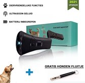 Diervriendelijke Ultrasone Anti- blaf Apparaat 2020 + hondenfluitje - Anti blafband – Extra Snel van Blaffen af -Honden Training Blaffen – Hondentrainer