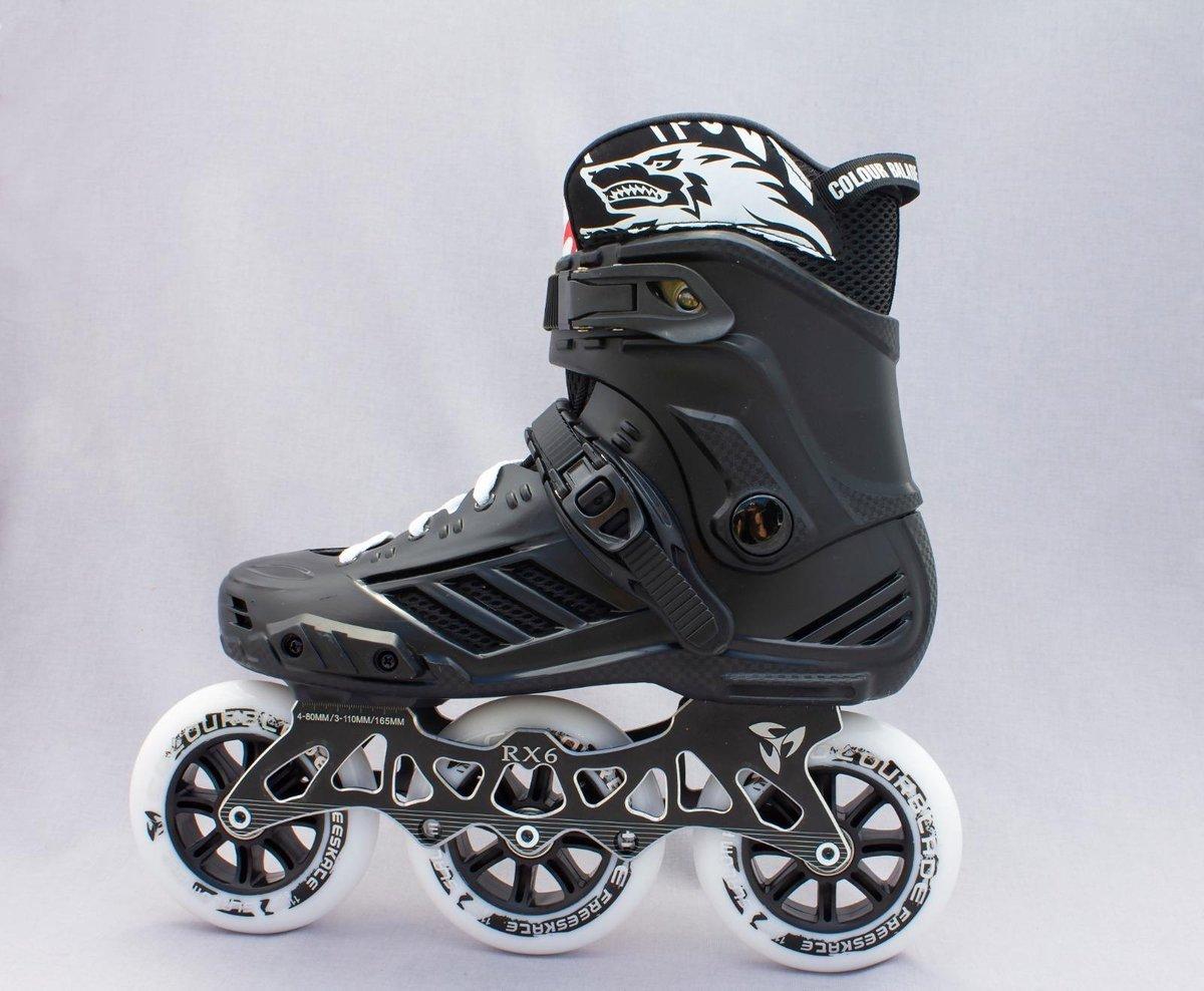 Colourblade Inline Skate - RX6 Fitness Skate - Skeeler- Maat 42 - Unisex - Zwart -Witte wielen