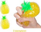 Ananas anti stressbal - Knijpbal met Orbeez - 2 stuks - Voordeelbundel - Fidget Toys