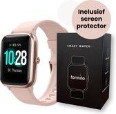 Formilo Smartwatch Dames met Gratis Screen Protector - Activity Tracker - Android en iOS - Rose Goud