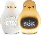 Pinguïn Slaapwekker - Kinderwekker - Slaapwekker  - Baby Nachtlampje - Nachtlamp voor kinderen - Inclusief USB-laadkabel - Babykamer - Kinderkamer