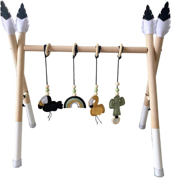 BabyGym Hout Wit