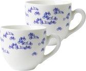 Koffiekopjes - set van 2 - koffiemokken - kopjes - Holland - Delfts blauw - Hollandse cadeautjes - Holland souvenir