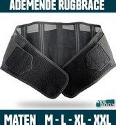 AVE® Ademende Rugbrace voor Rugpijn in Zomer & Lente  – Rugband Maat XXL – Ademend Materiaal - Unisex Model – Onderrug Brace – Biedt Ondersteuning & Zorgt voor Pijnverlichting
