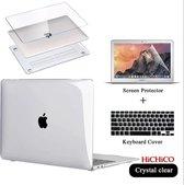 MacBook Air 13 inch (2020) MacBook Air Hoes + Screen Protector en Keyboard Cover, Loptop Cover – Clear Hard Case – MacBook Air Case 3IN1 – MacBook Screen Protector - HiCHiCO