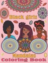 Black Girls Mandalas Coloring Book