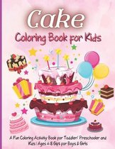 Cake Coloring Book for Kids