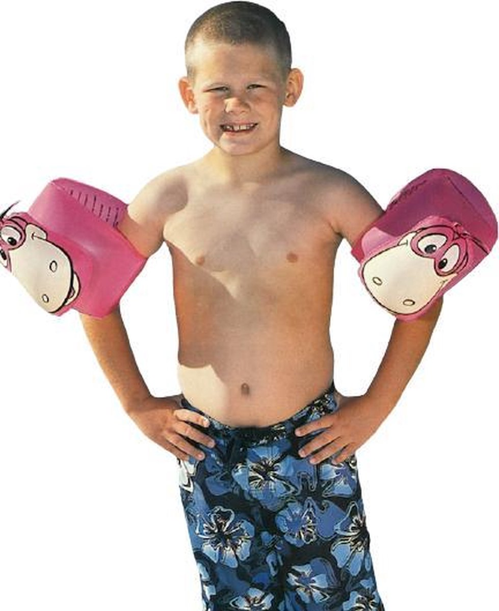 Bestway Zwembandjes Roze Dino The Flintstones - 25 x 15 cm 6 t/m 12 jaar