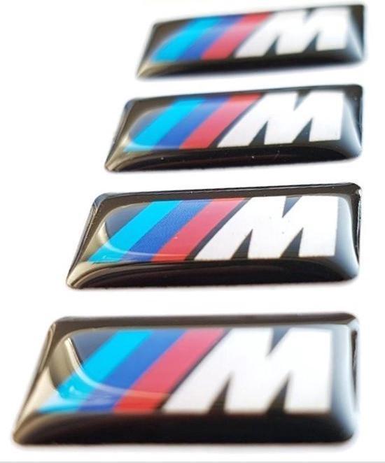 M logo stickers tbv BMW - badges - embleem - velgen - stuur - interieur - accessoire –  lijkt op 36112228660 after market