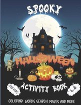 Spooky Halloween Activity Book for Kids Ages 4-8