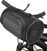 Fietstas stuurtas met smartphone houder – waterdicht – Fiets tas stuur – Smartphone houder fiets – T/M 6.2 inch - zwart