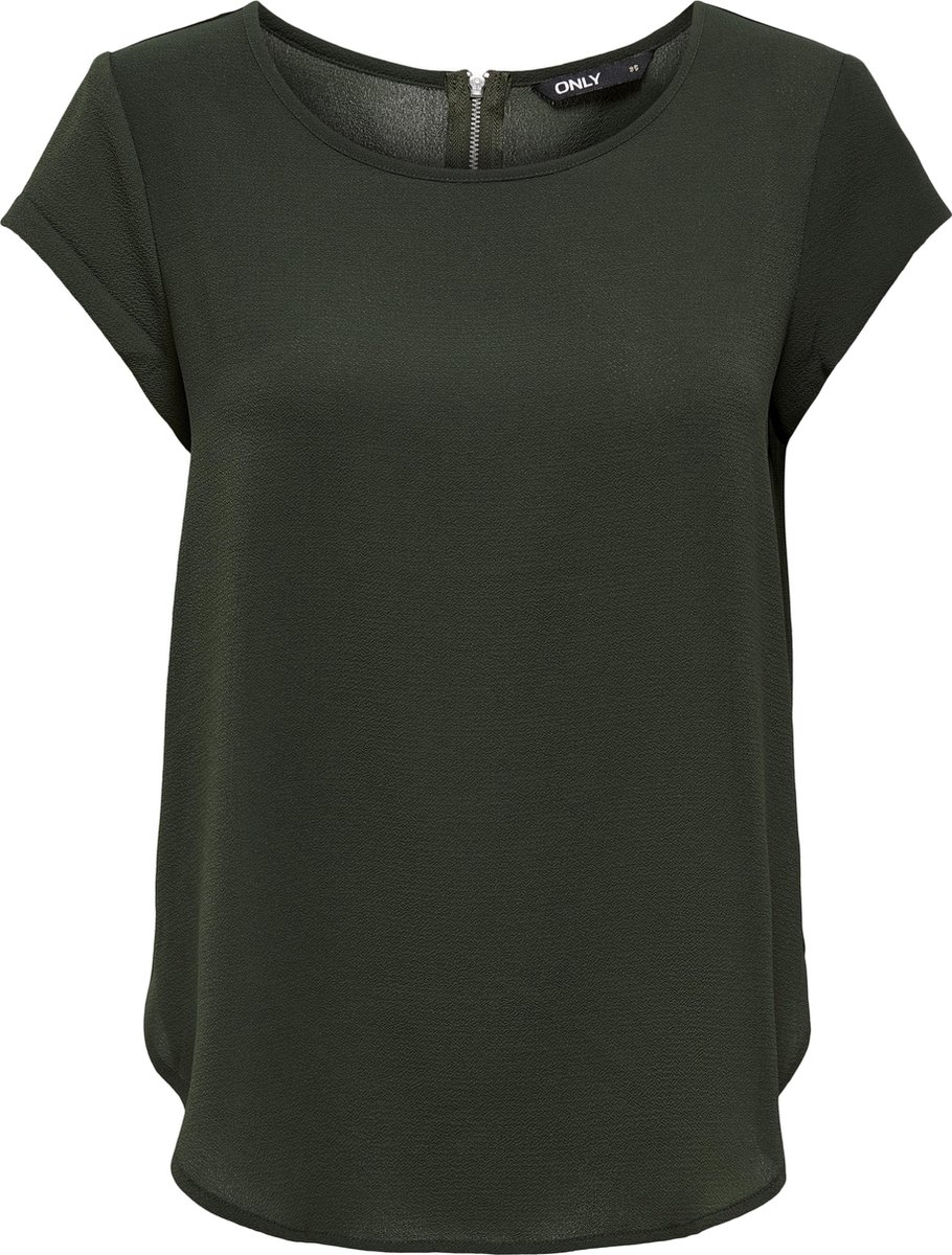 ONLY ONLVIC S/S SOLID TOP  PTM Dames T-shirt - Maat 40