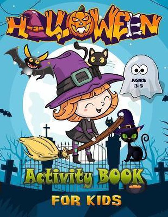 Halloween Activity Book for Kids Ages 3-5